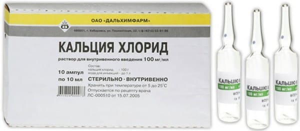 Ампулы кальция хлорида