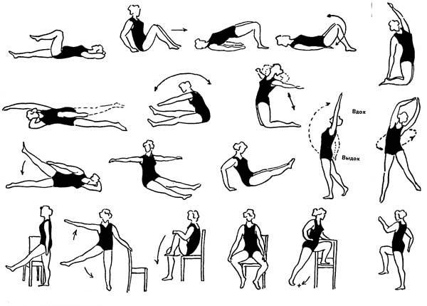 Комплекс упражнений при геморрое